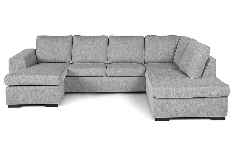 CONNECT U-soffa med Divan Vänster Grovvävt tyg Mörkgrå - Skräddarsy färg och tyg - Möbler & Inredning - Soffor - U-soffor
