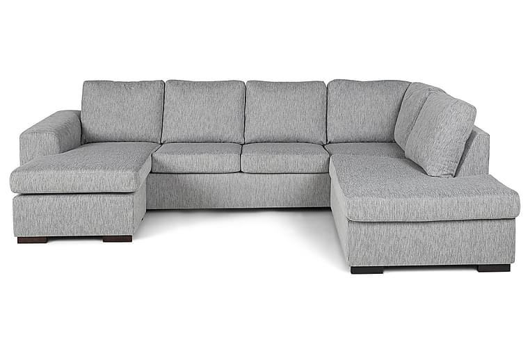 CONNECT U-soffa med Divan Vänster Grovvävt tyg Rosa - Skräddarsy färg och tyg - Möbler & Inredning - Soffor - U-soffor