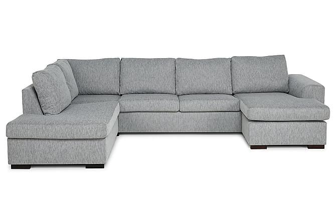 CONNECT U-soffa XL med Divan Höger Konstläder Mörkgrå - Skräddarsy färg och tyg - Möbler & Inredning - Soffor - Divansoffor