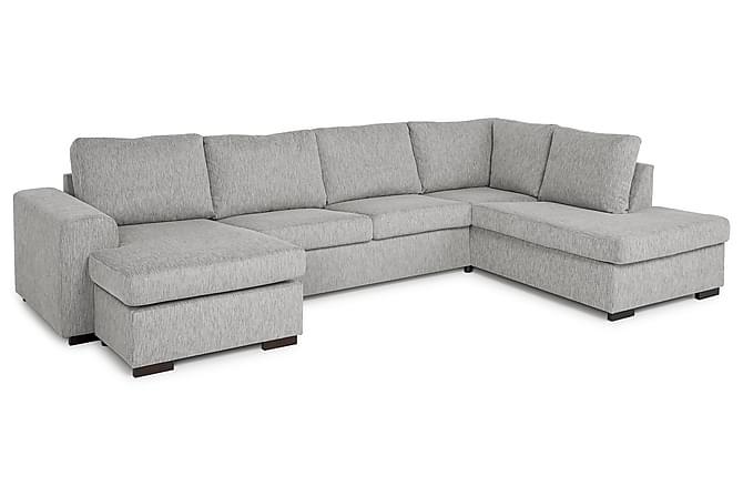 CONNECT U-soffa XL med Divan Vänster Ljusgrå - Möbler & Inredning - Soffor - U-soffor