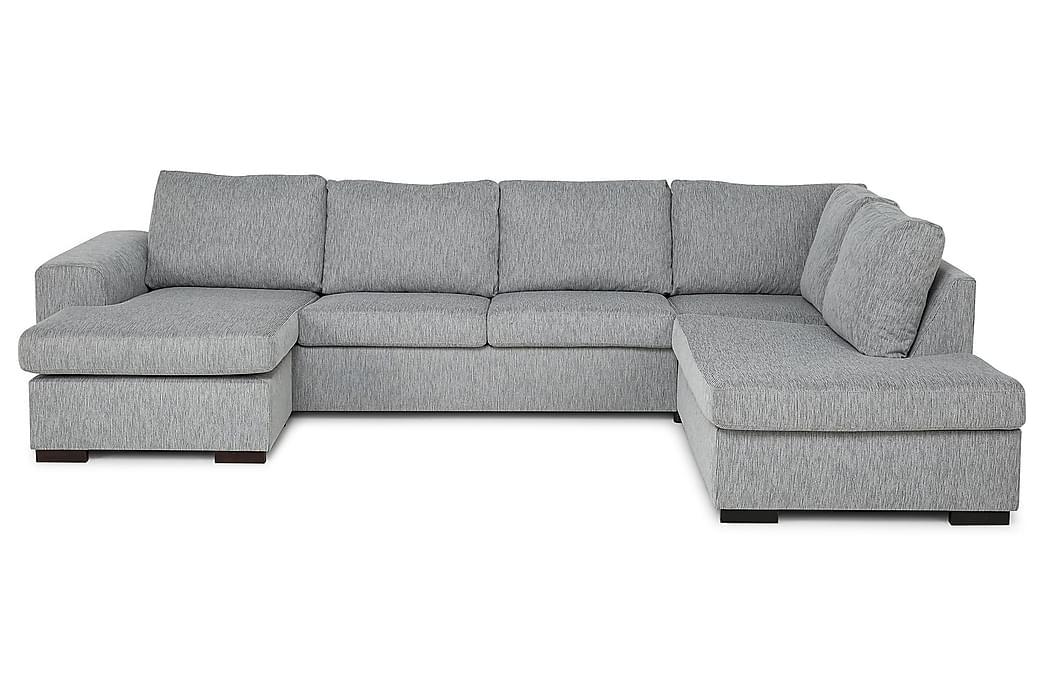 CONNECT U-soffa XL med Divan Vänster Sammet Blå - Skräddarsy färg och tyg - Möbler & Inredning - Soffor - U-soffor