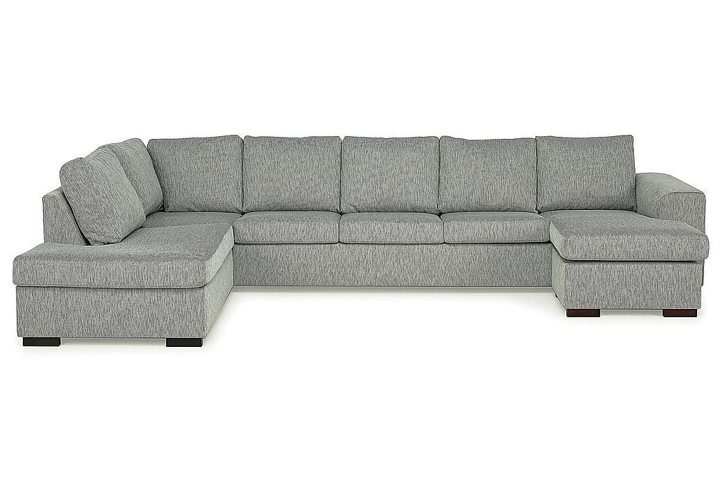 CONNECT U-soffa XXL med Divan Höger Finvävt Tyg Turkos - Skräddarsy färg och tyg - Möbler & Inredning - Soffor - U-soffor