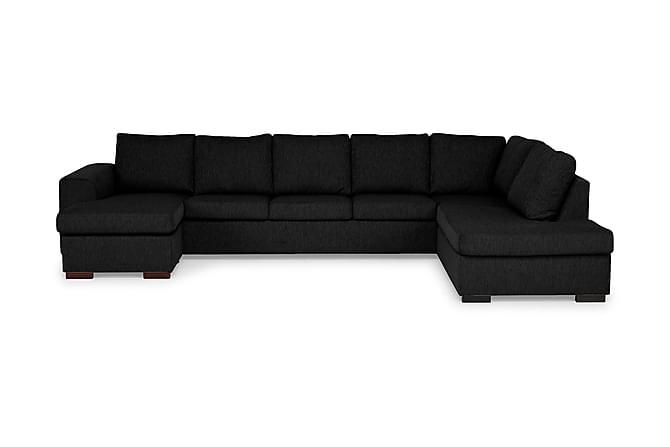 CONNECT U-soffa XXL med Divan Vänster Svart - Möbler & Inredning - Soffor - U-soffor