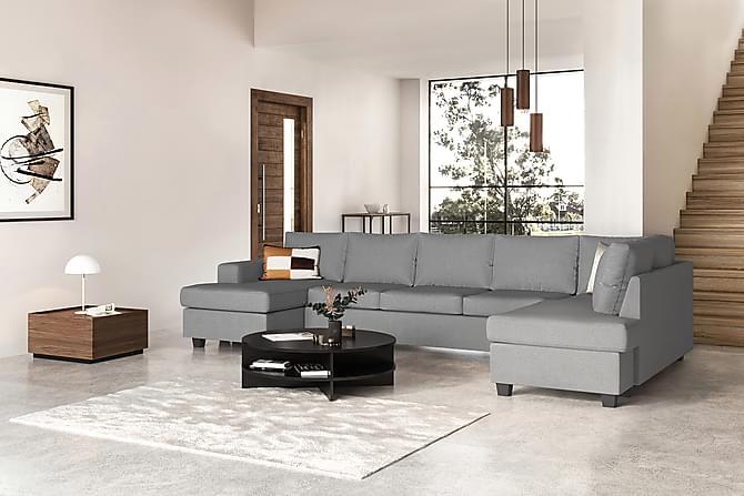 HAVANA U-soffa Large med Divan Vänster Grå - Möbler & Inredning - Soffor - Divansoffor