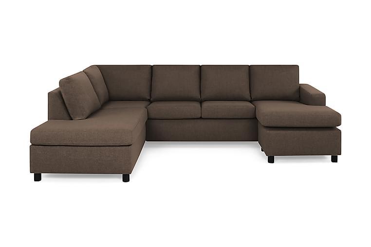 NEW YORK U-soffa Large Divan Höger Brun - Möbler & Inredning - Soffor - U-soffor