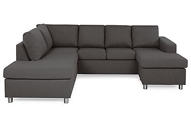 NEW YORK U-soffa Large Divan Höger Mörkgrå