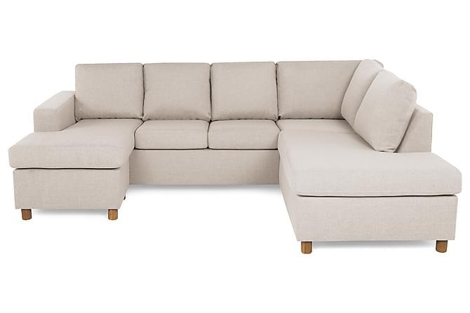 NEW YORK U-soffa Large Divan Vänster Beige - Möbler & Inredning - Soffor - U-soffor