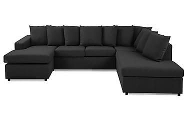 NEW YORK U-soffa Large Höger + Kuddar Antracit