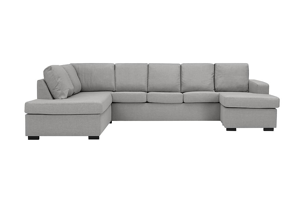 NEW YORK U-soffa XL Divan Höger Ljusgrå - Möbler & Inredning - Soffor - U-soffor