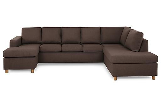 NEW YORK U-soffa XL Divan Vänster Brun, U-soffor