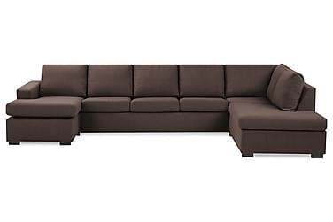 NEW YORK U-soffa XL Divan Vänster Brun