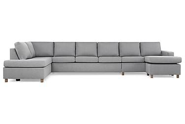 NEW YORK U-soffa XXL Divan Höger Ljusgrå