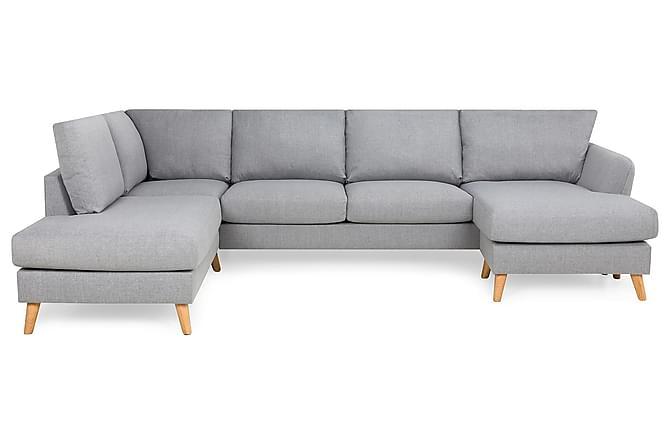 OSCAR U-soffa med Divan Höger Chenille Beige - Skräddarsy färg och tyg - Möbler & Inredning - Soffor - Divansoffor
