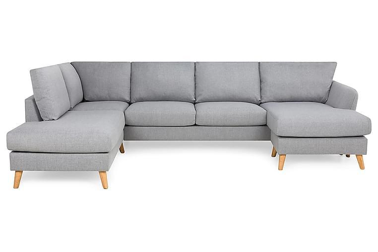 OSCAR U-soffa med Divan Höger Grovvävt tyg Brun - Skräddarsy färg och tyg - Möbler - Vardagsrum - Soffor - U-soffor