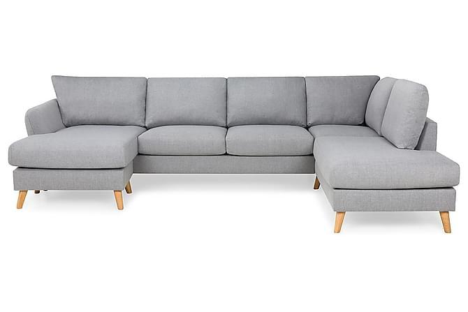 OSCAR U-soffa med Divan Vänster Chenille Turkos - Skräddarsy färg och tyg - Möbler & Inredning - Soffor - Divansoffor