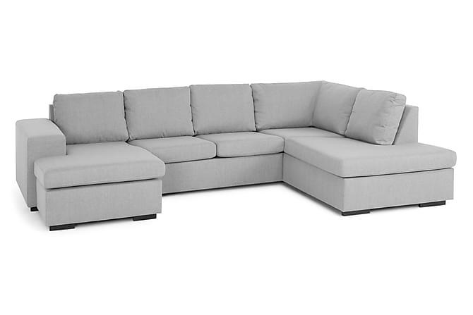 PELAGOS U-soffa med Divan Vänster Ljusgrå - Möbler & Inredning - Soffor - U-soffor