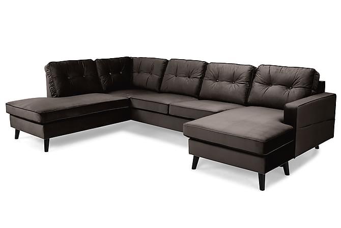 RIVALTA U-soffa med Divan Höger Sammet Mullvad - Inomhus - Soffor - U-soffor
