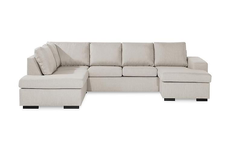 WINDHAM U-soffa med Divan Höger Beige - Möbler & Inredning - Soffor - U-soffor