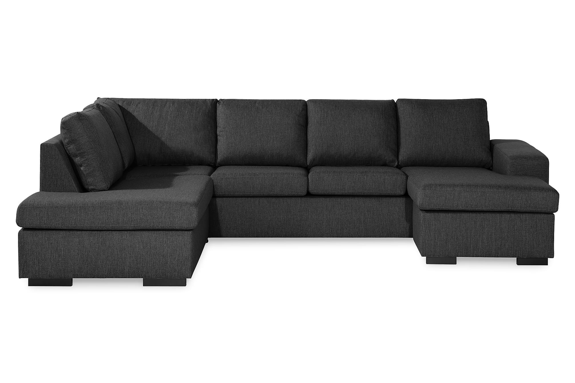 WINDHAM U-soffa med Divan Höger Mörkgrå