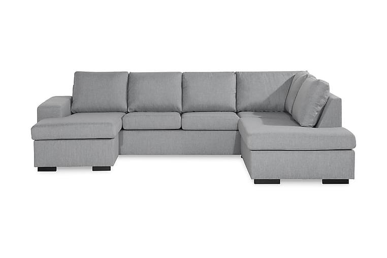 WINDHAM U-soffa med Divan Vänster Grå - Möbler & Inredning - Soffor - U-soffor