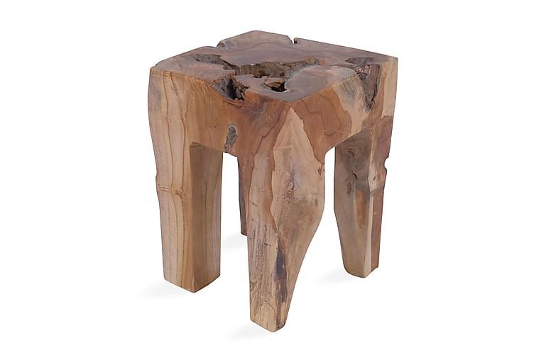 Pall massivt teakträ - Brun - Möbler & Inredning - Stolar - Pallar