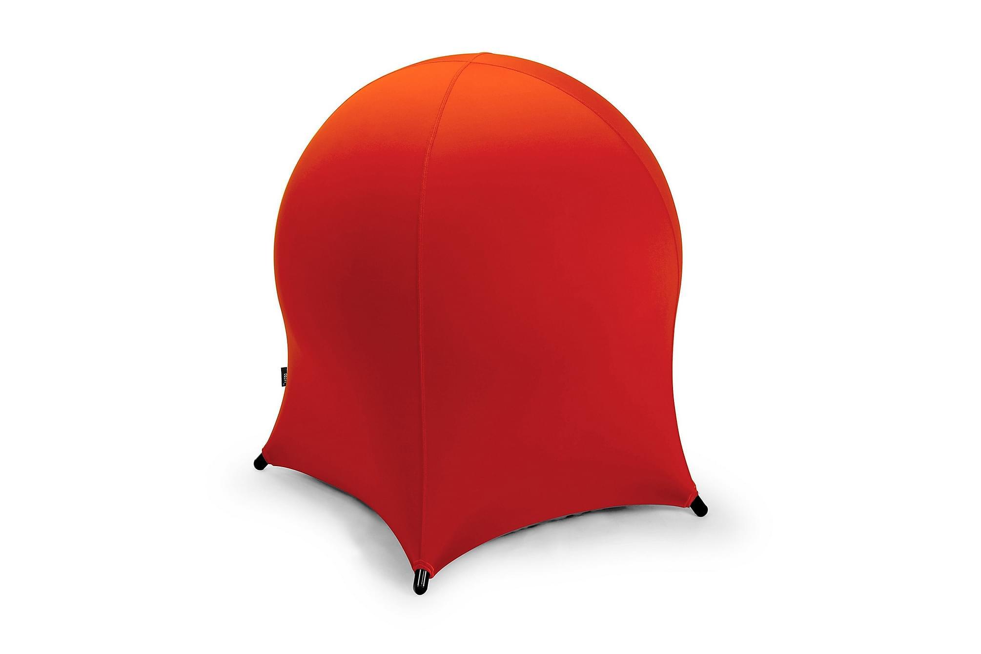 Bollstol JELLYFISH 55x55xH63cm röd, Sittpuff