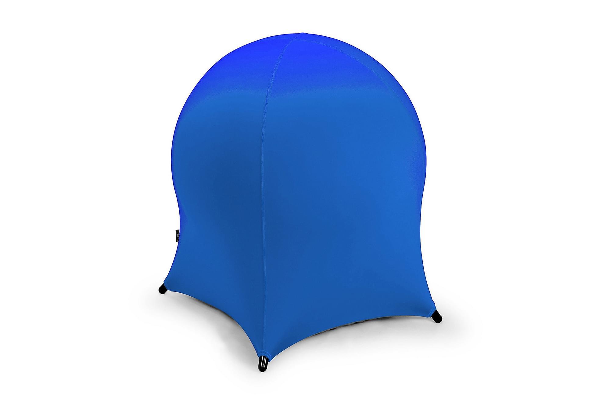 Bollstol JELLYFISH 55x55xH63 uppblåsbar blå, Sittpuff