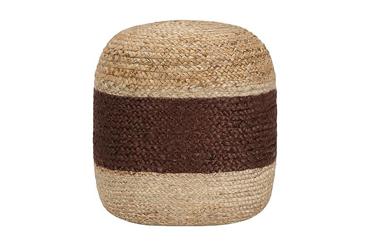 Handgjord sittpuff brun 40x45 cm jute - Brun - Möbler & Inredning - Fåtöljer & fotpallar - Sittpuff