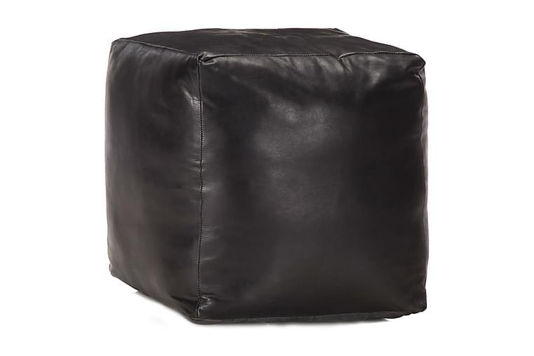 Sittpuff svart 40x40x40 cm äkta getskinn - Svart - Möbler & Inredning - Fåtöljer & fotpallar - Sittpuff