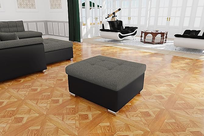 NIKO Sittpuff 70x68x41 cm - Beige Svart - Möbler & Inredning - Fåtöljer & fotpallar - Sittpuff