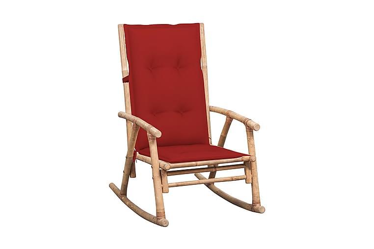 Gungstol med dyna bambu - Brun - Möbler & Inredning - Stolar - Snurrstolar & gungstolar