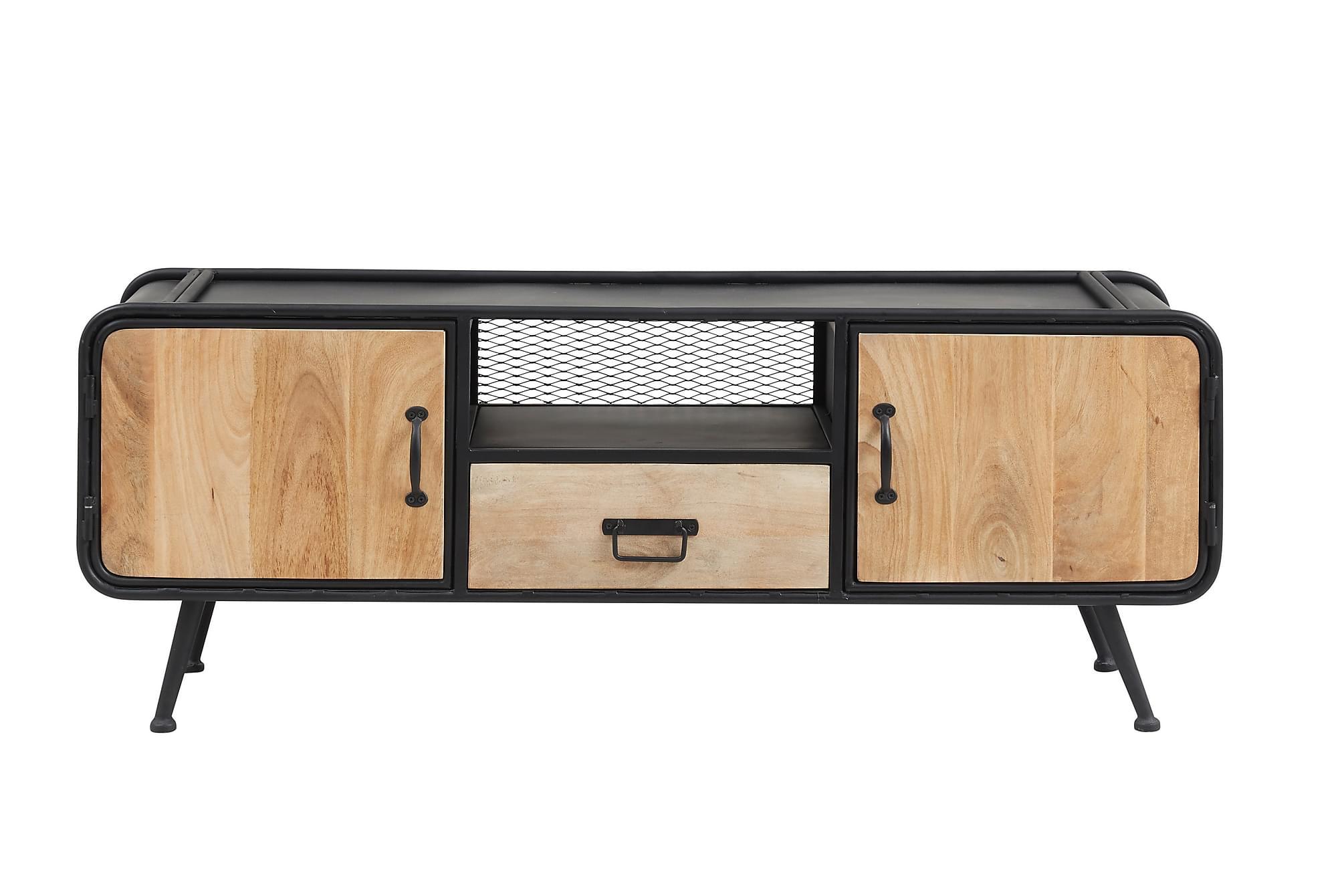 ANTOLOS TV-Bänk 135 cm Beige, Tv-möbelset