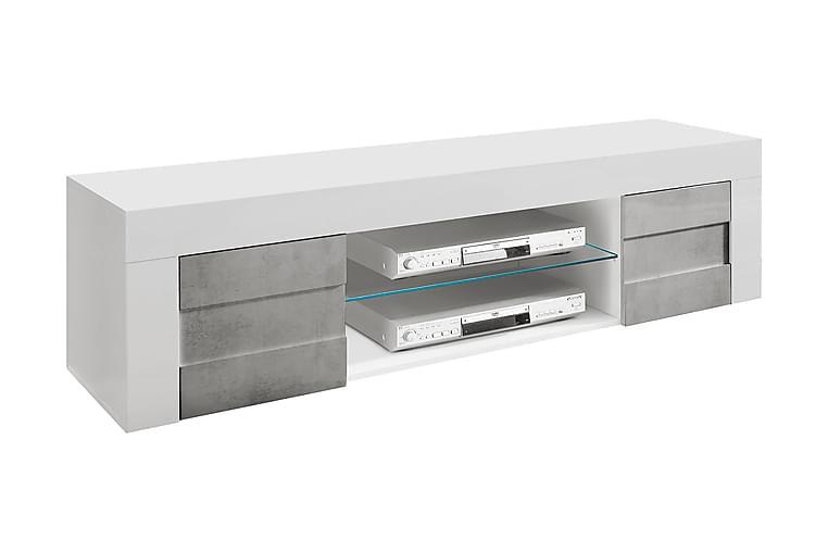 BASE TV-bänk 181 Hylla 2 Dörrar Vit/Betongloook - Möbler & Inredning - Mediamöbler - Tv-bänkar