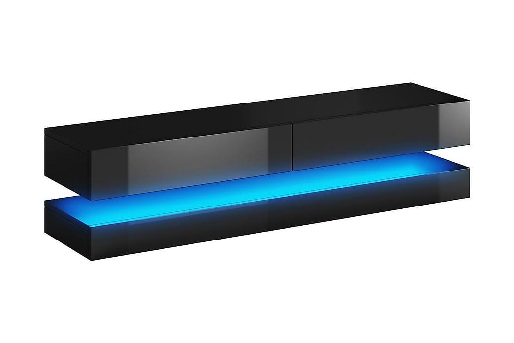 CALGARY TV-bänk 140 LED-belysning Svart - Möbler & Inredning - Mediamöbler - Tv-bänkar