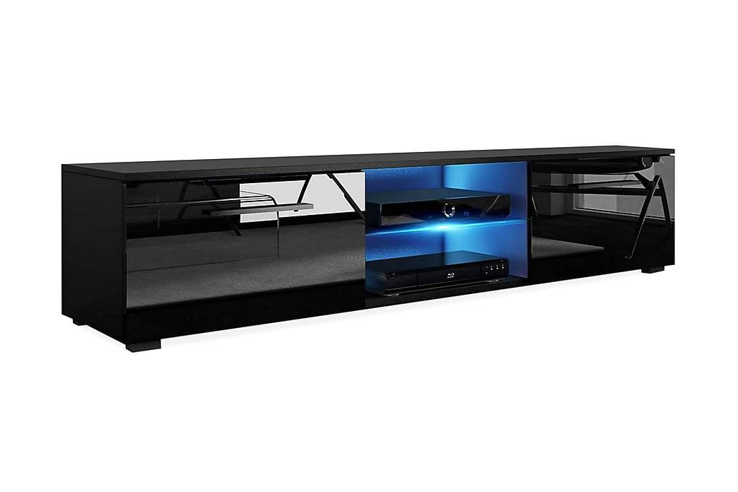 CALUM TV-bänk 140 LED-belysning Svart - Möbler & Inredning - Mediamöbler - Tv-bänkar