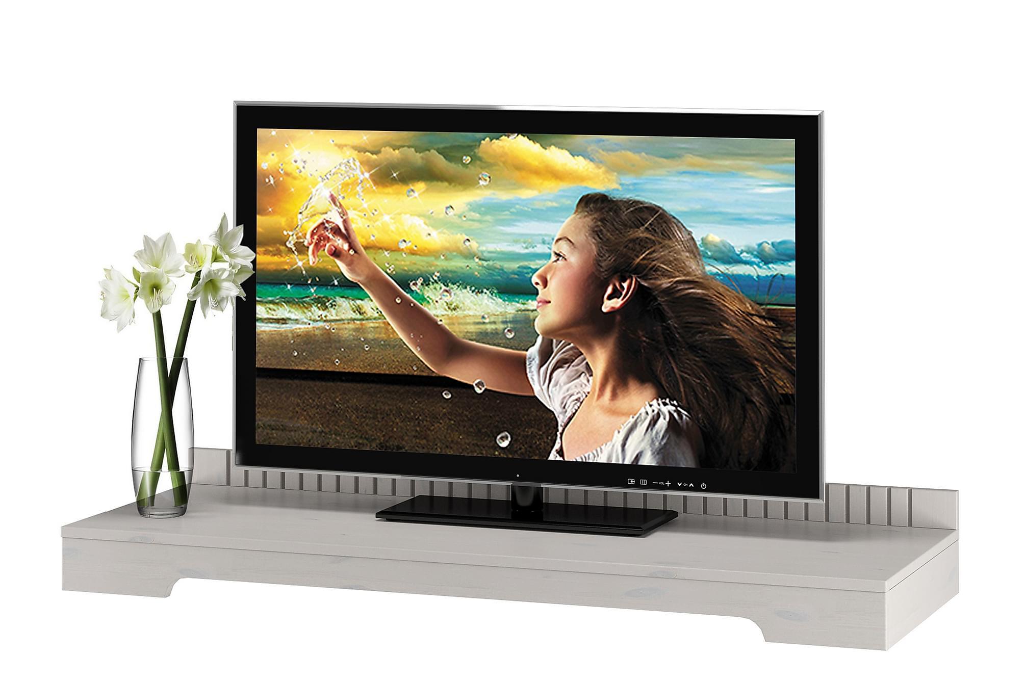 CASTORA TV-bänk 125 Vit, Mediamöbler