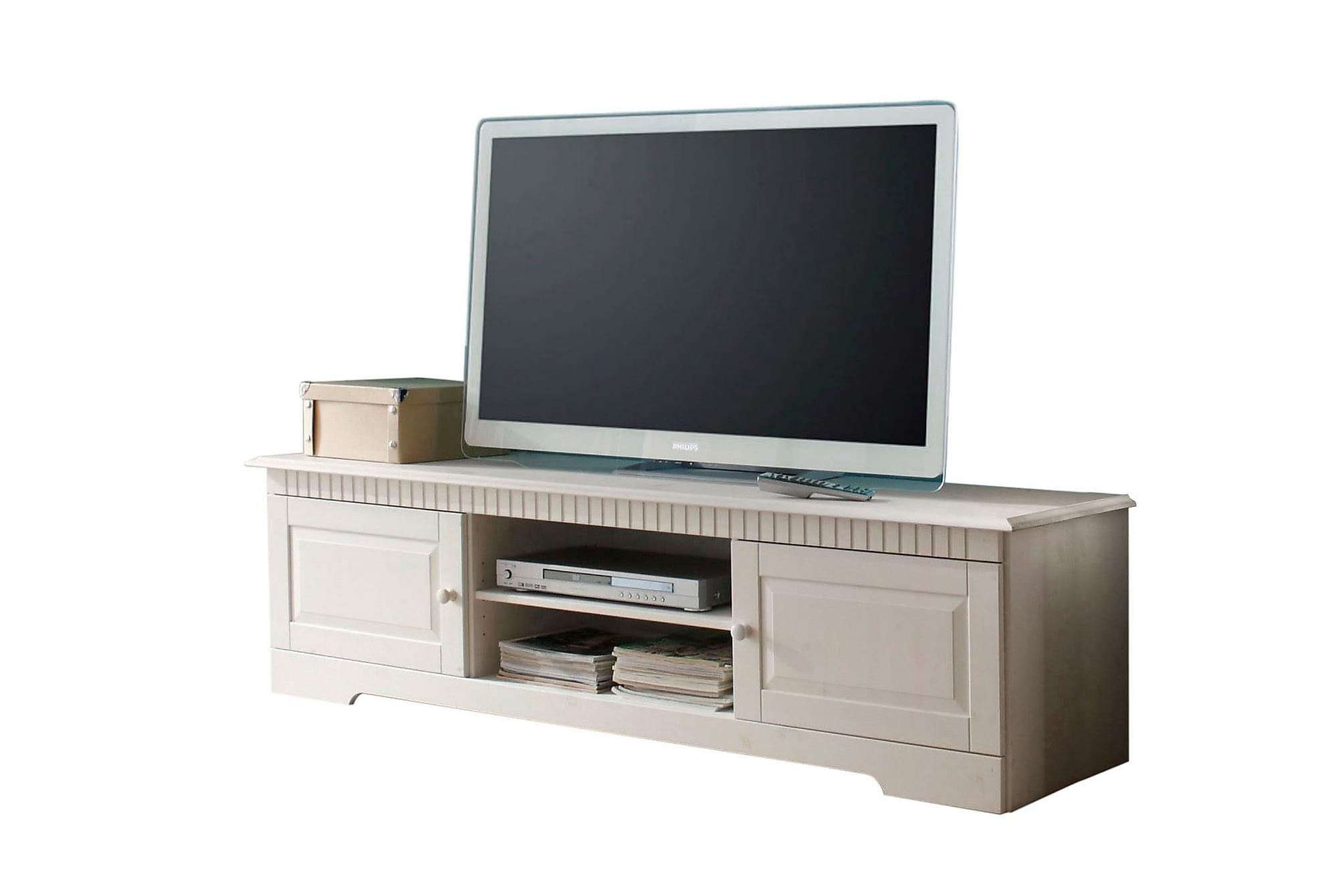 CASTORA TV-bänk 160x45 Vit, Mediamöbler