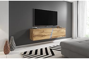 Glanser Tv-bänk 160 cm Trä/natur