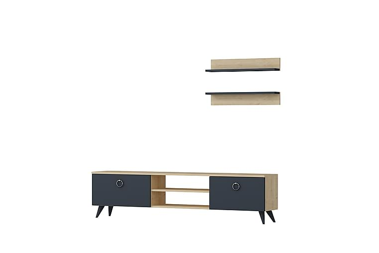 KNOWES TV-Möbelset 150 cm Ek/Antracit - Möbler & Inredning - Mediamöbler - Tv-bänkar