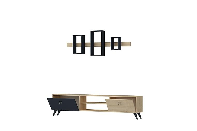 MILINOVICH TV-Möbelset 180 cm Ek/Antracit - Möbler & Inredning - Mediamöbler - Tv-bänkar