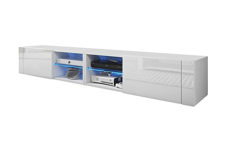 RACKER TV-bänk 200 Vit - Möbler & Inredning - Mediamöbler - Tv-bänkar