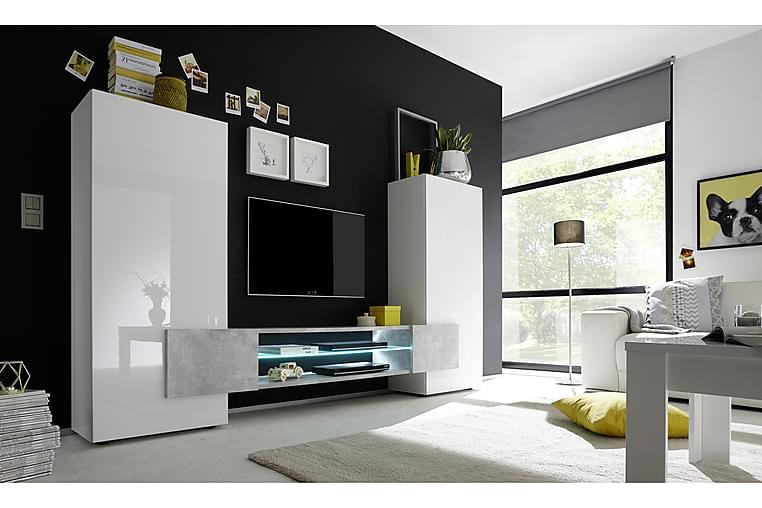 READING TV-möbel 258 Vit/Betong - Möbler & Inredning - Mediamöbler - Tv-bänkar