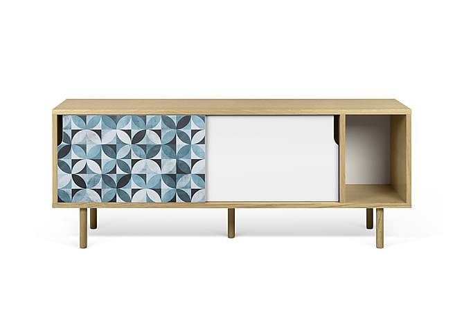 RHONDAVE TV-bänk 165 Mönstrad Träben Flerfärgad - Inomhus - Förvaring - Sideboards