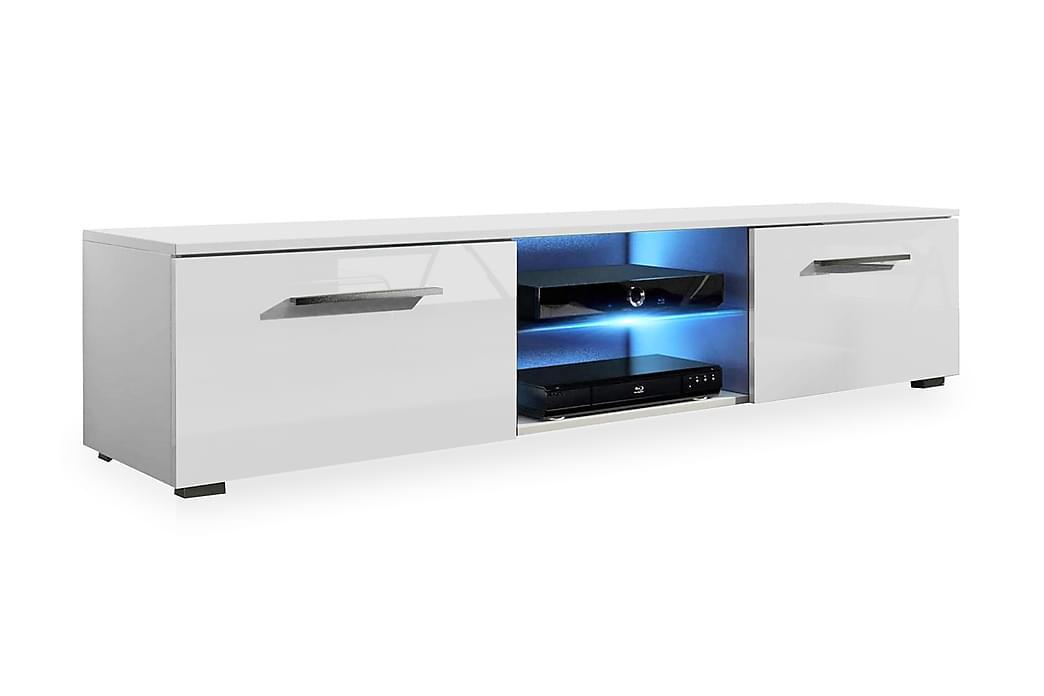 TOLSBY TV-bänk 140 cm LED-belysning Vit - Möbler & Inredning - Mediamöbler - Tv-bänkar