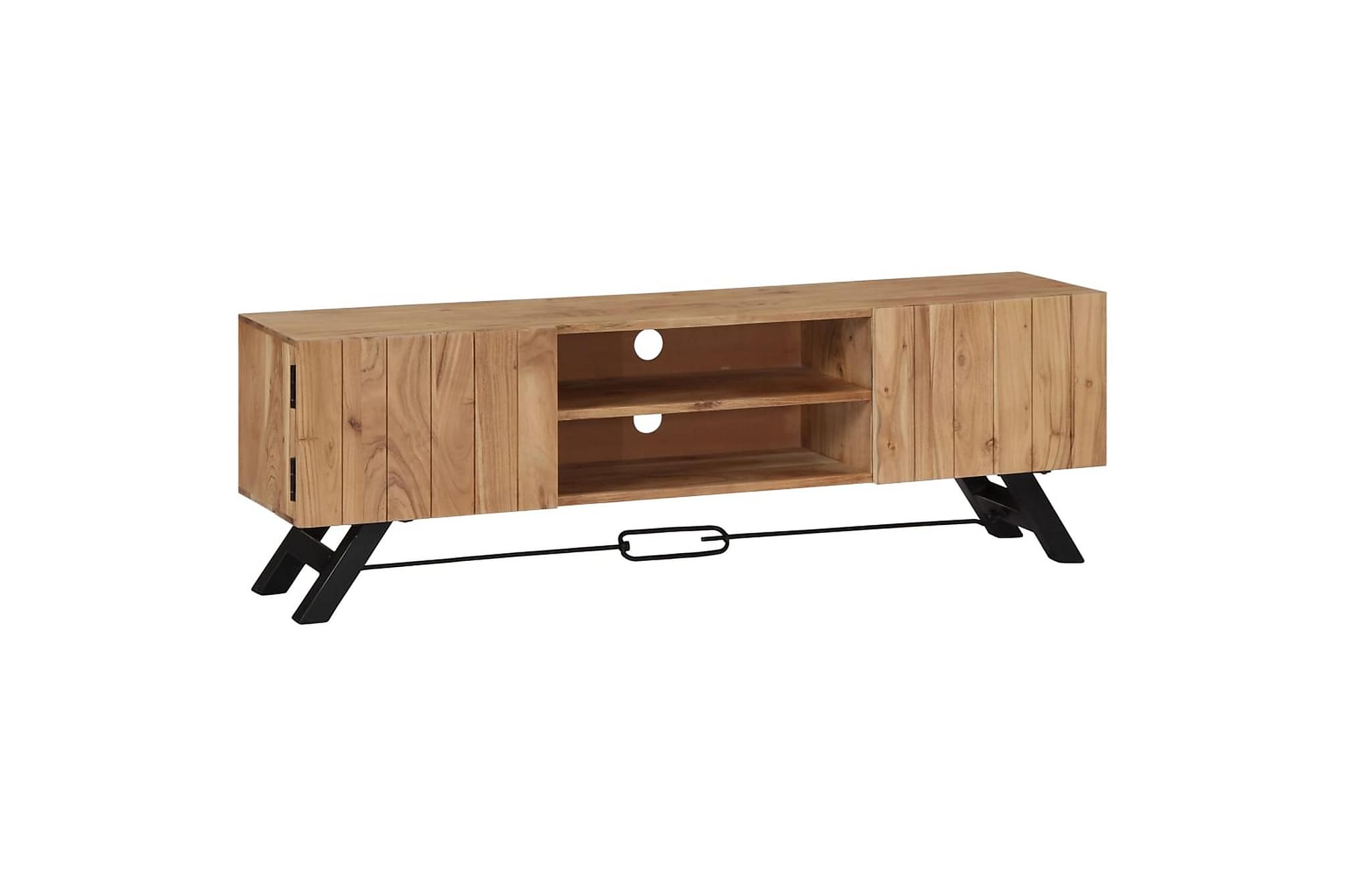 TV-bänk 140x30x45 cm massivt akaciaträ