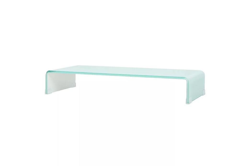 TV-bord glas vit 80x30x13 cm - Vit - Möbler & Inredning - Mediamöbler - Tv-bänkar
