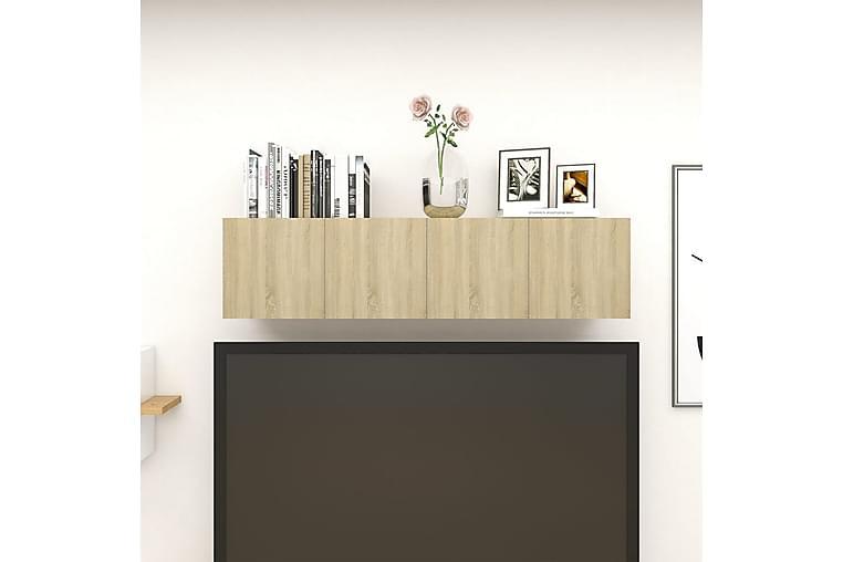 Väggmonterade tv-skåp 4 st sonoma-ek 30,5x30x30 cm - Brun - Möbler & Inredning - Mediamöbler - Tv-bänkar