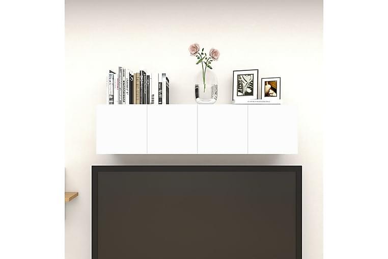 Väggmonterade tv-skåp 4 st vit och sonoma-ek 30,5x30x30 cm - Beige - Möbler & Inredning - Mediamöbler - Tv-bänkar