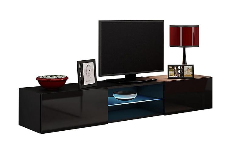 WILBER TV-bänk 180x40x30 cm - Svart - Möbler & Inredning - Mediamöbler - Tv-bänkar