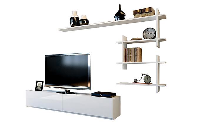 IRAYLA Tv-bänk med Vägghylla Vit - Vit - Möbler & Inredning - Mediamöbler - Tv-möbelset